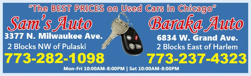 Sams Auto Sales >> Sams Auto Sales Used Cars In Chicago 3377 N Milwaukee 773